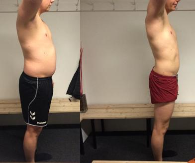 12 ugers vægttab højre side