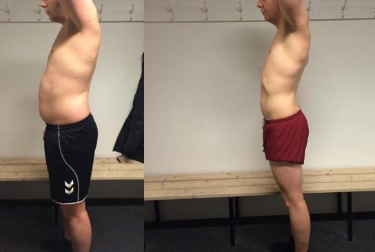 12 ugers vægttab venstre side