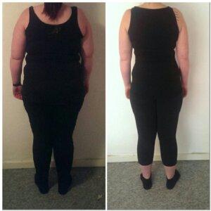 Camillas vægttab bagfra på 12 uger
