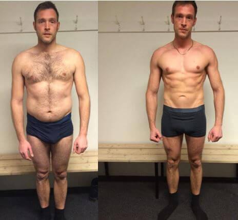 Jacobs resultat på 12 uger m. personlig træning