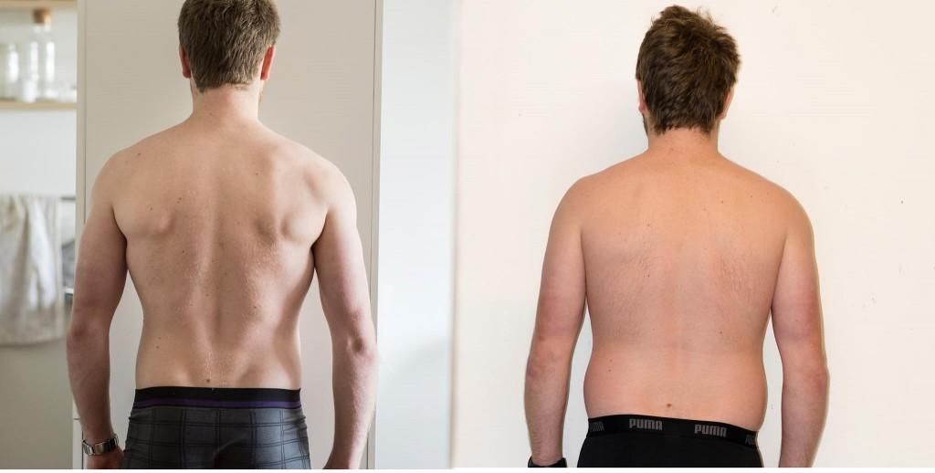 12 ugers vægttab fra siden