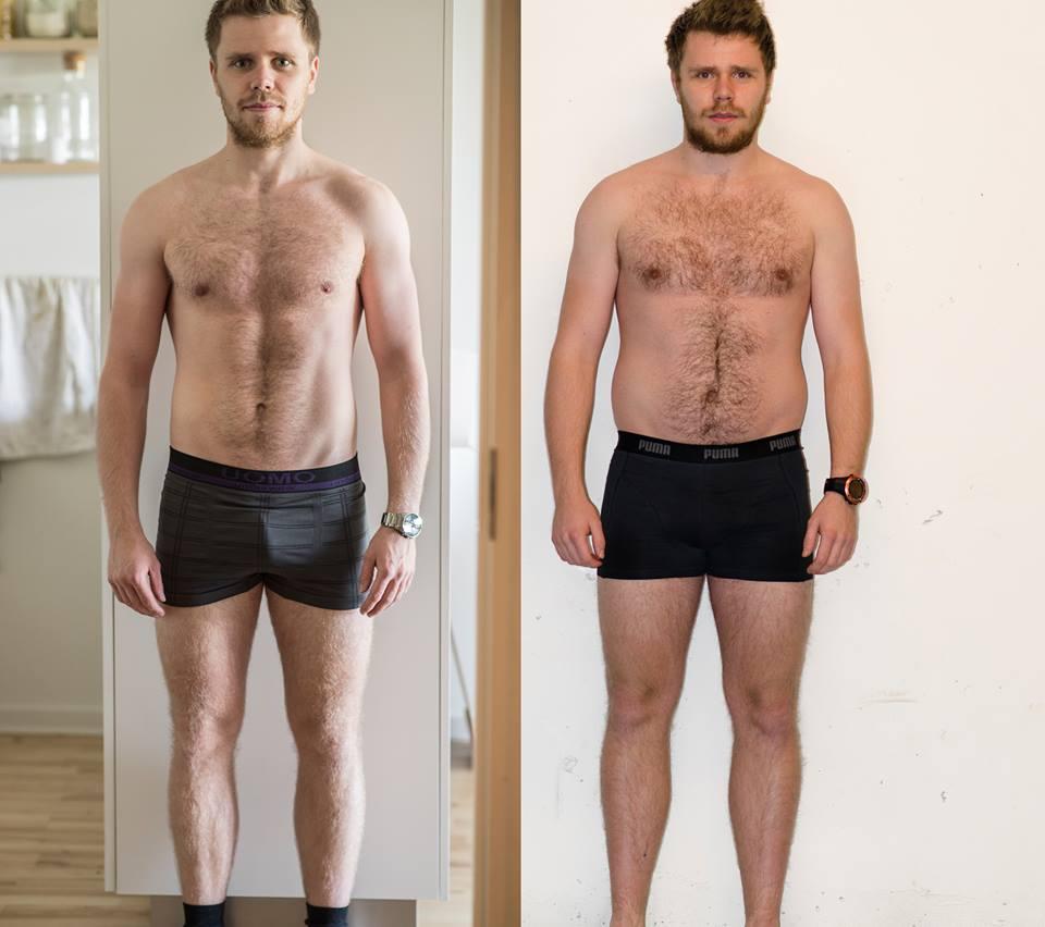 12 ugers vægttab Forfra