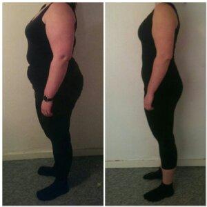 Camillas vægttab fra siden på 12 uger