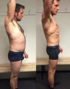 Jacobs vægttab fra siden på 12 uger