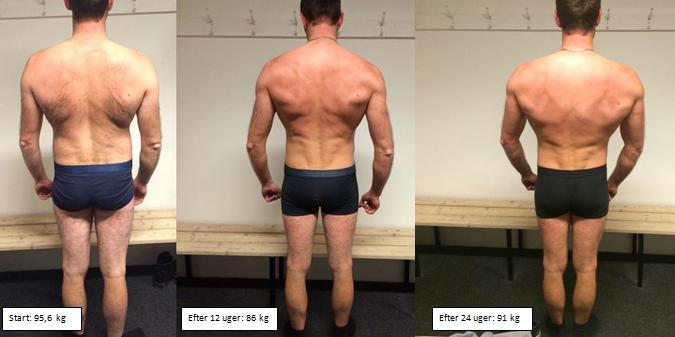 Jacobs muskeløgning bagfra på 24 uger