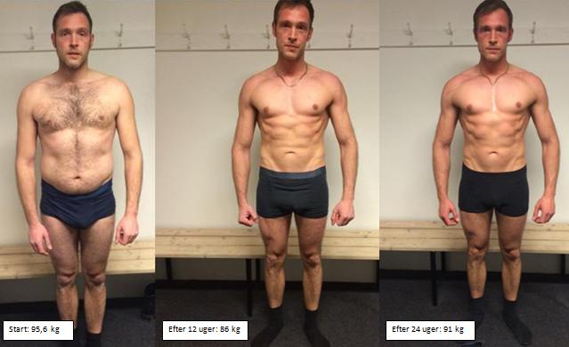 Jacobs muskeløgning forfra på 24 uger