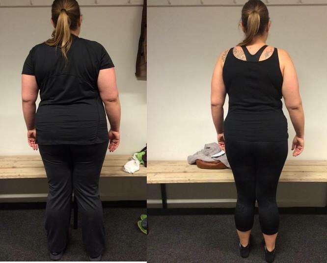 Annes vægttab bagfra på 12 uger