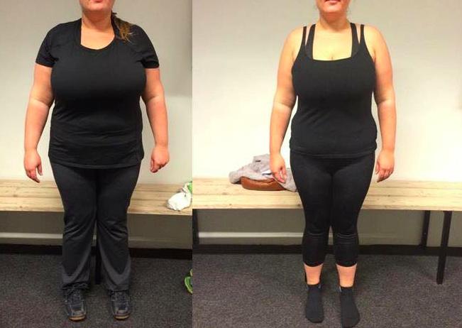 Annes vægttab forfra på 12 uger
