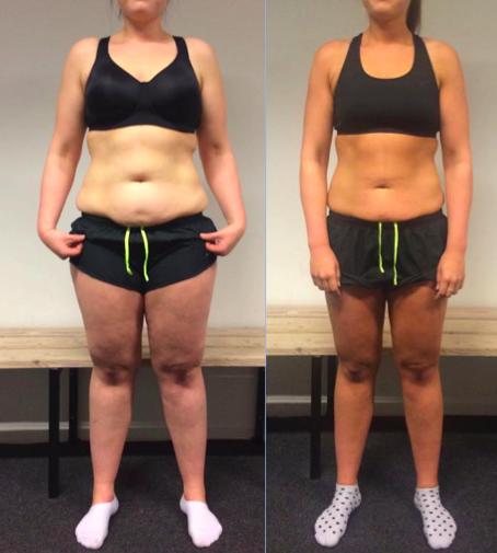 Camillas vægttab forfra på 12 uger