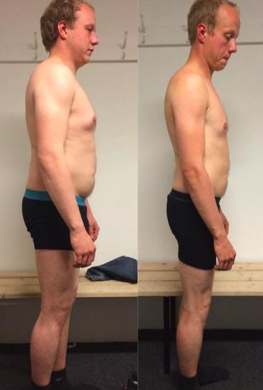 Michael's vægttab fra siden på 12 uger