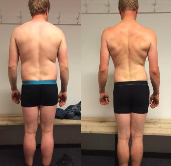 Michael's vægttab på 12 uger m. personligtræning
