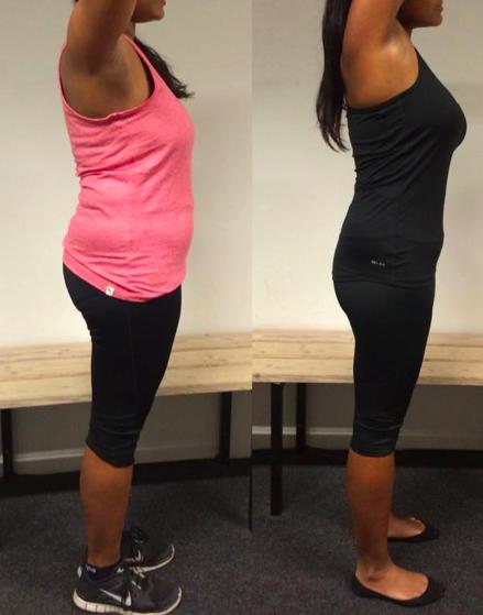 Helene's vægttab fra siden på 12 uger