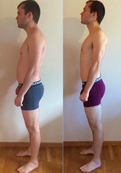 Mark's vægttab på 12 uger online forløb