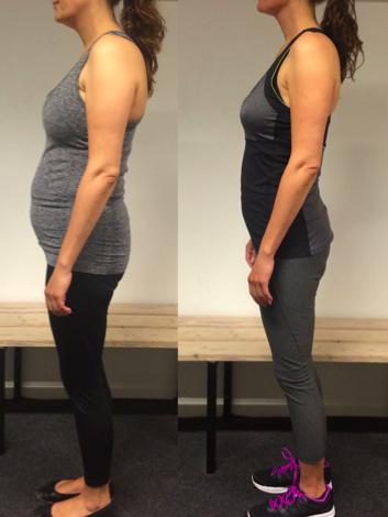 Jeanita's vægttab fra siden på 12 uger
