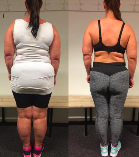 Anne's vægttab bagfra på 19 uger