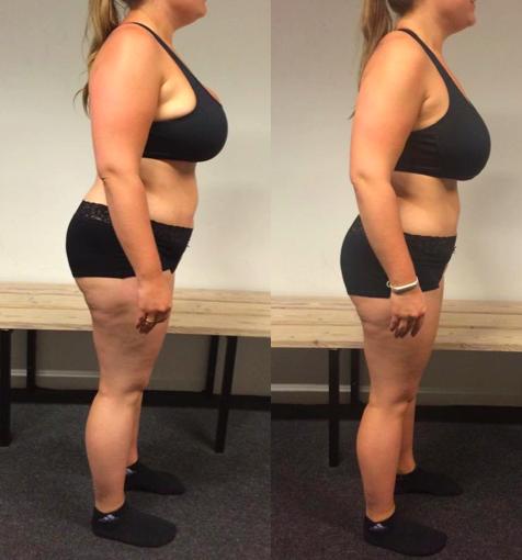 Anne's vægttab fra siden på 12 uger