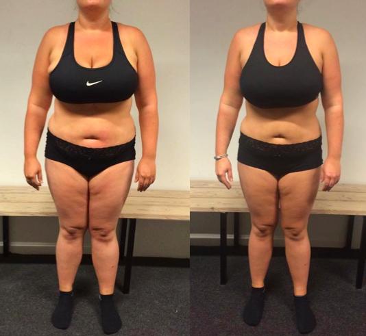 Anne's vægttab forfra på 12 uger