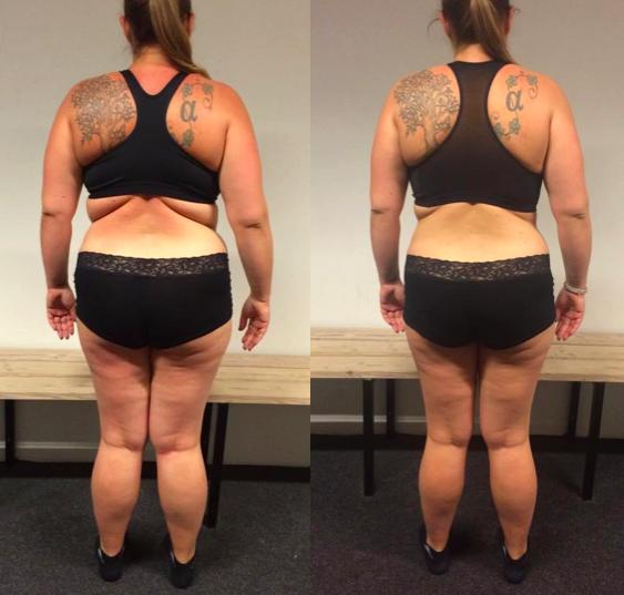 Anne's vægttab bagfra på 12 uger