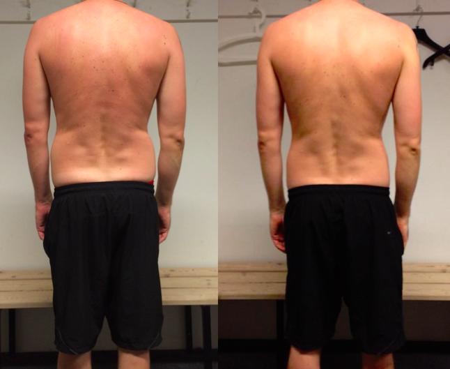 Toke's vægttab bagfra på 10 uger