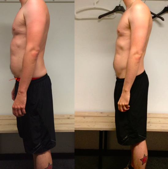 Toke's vægttab på 10 uger m. personlig træning
