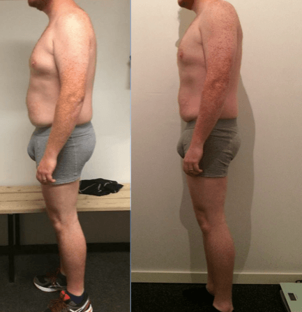 Erik's vægttab på 10 uger m. personlig træning