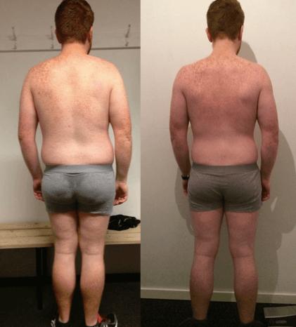 Erik's vægttab bagfra på 20 uger