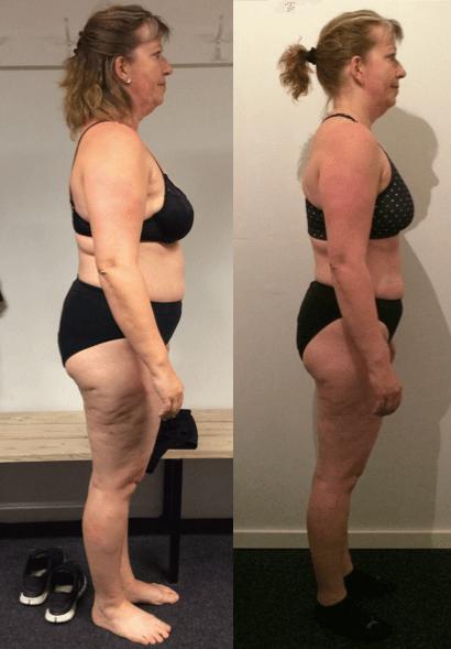 Ina's vægttab på 20 uger m. personlig træning