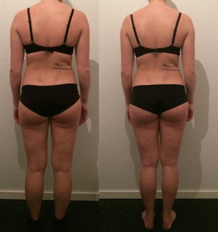 Louise's vægttab bagfra på 10 uger