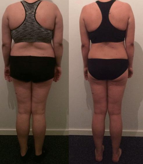 Pernille's vægttab bagfra på 9 uger