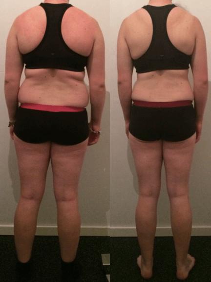 Pernille's vægttab bagfra på 10 uger