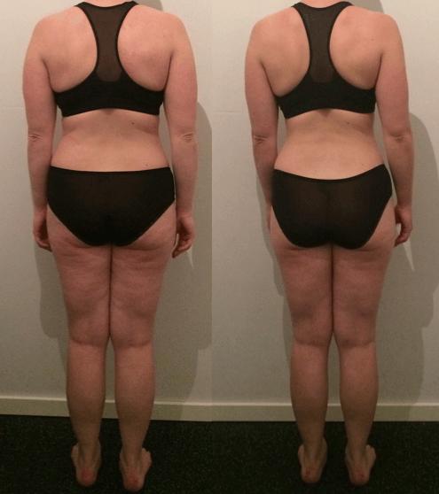 Kirsten's vægttab bagfra på 9 uger