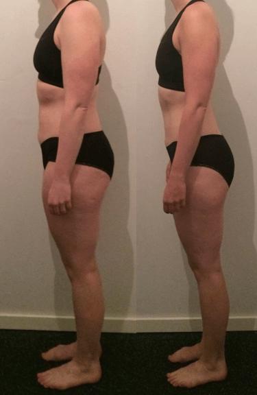Kirsten's vægttab fra siden på 9 uger