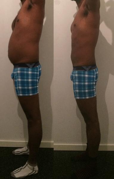 Prasath's vægttab fra siden på 9 uger