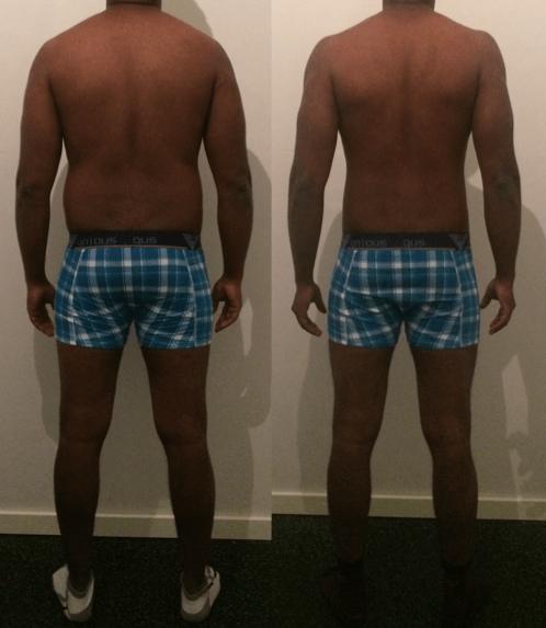 Prasath's vægttab bagfra på 9 uger