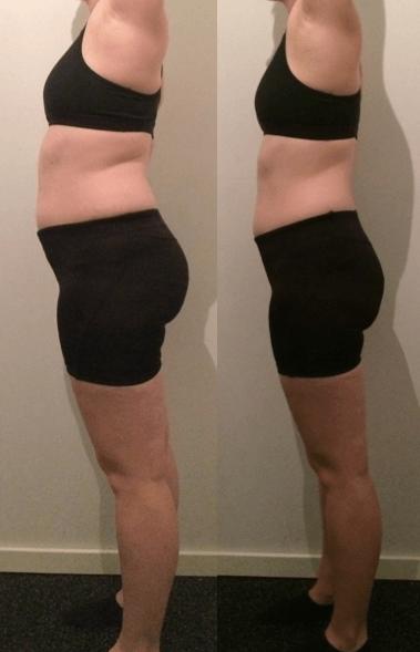 Ida's vægttab fra siden på 9 uger