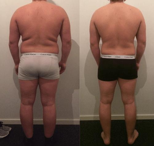 Marc's vægttab bagfra på 10 uger