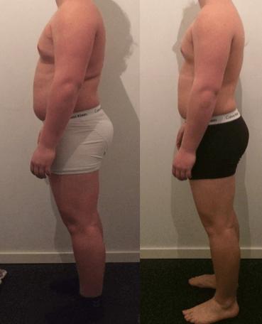 Marc's vægttab fra siden på 10 uger